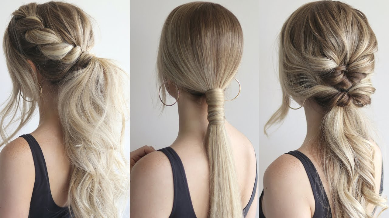 Fashionable Chic Ponytail Hairstyles Ponytail Hairstyles Regarding How To: Easy Ponytails (Gallery 3 of 20)