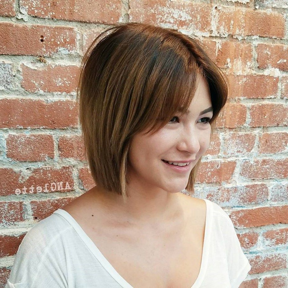 Fashionable Shaggy Bob Hairstyles With Curtain Bangs Regarding 50 Classy Short Bob Haircuts And Hairstyles With Bangs In (View 8 of 20)