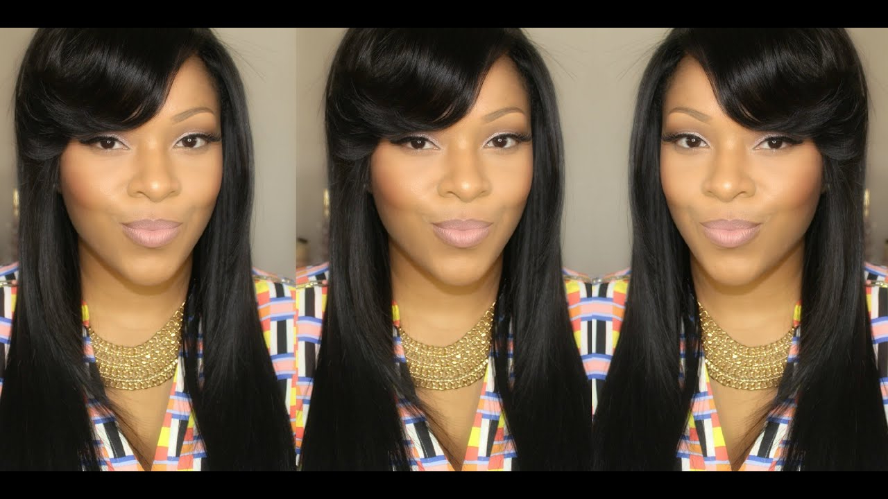 Favorite Voluminous Side Bang Hairstyles Throughout Hair Tutorial: Voluminous Side Swept Bangs Using A Flat Iron Ft (View 13 of 20)