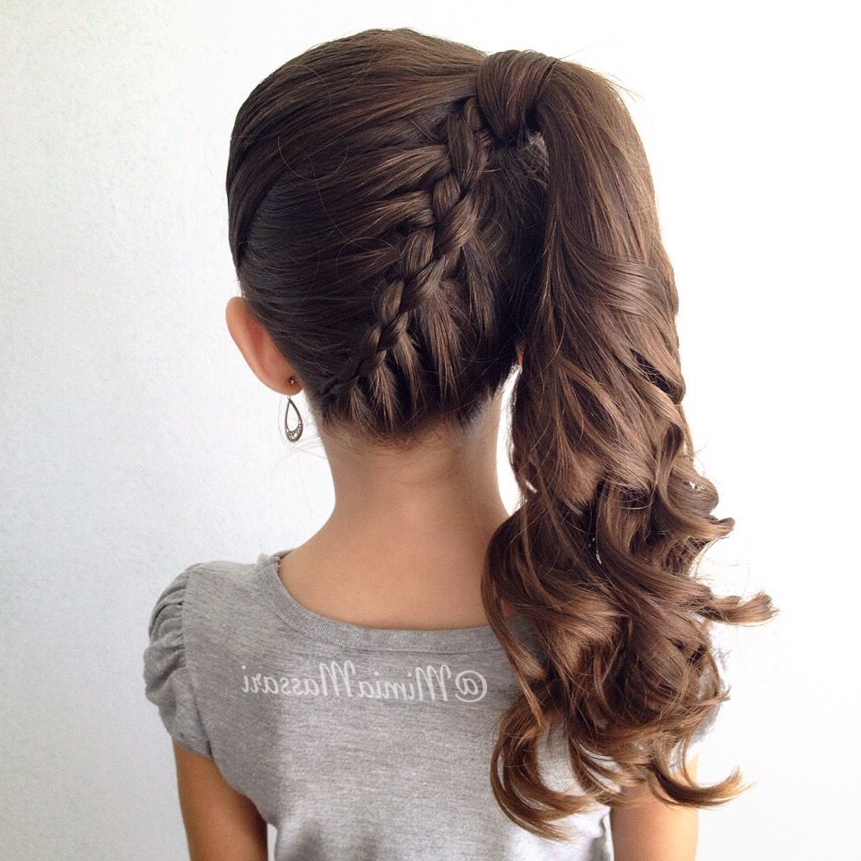 Great Stylish Braided Ponytail Hairstyles 2016 For Little Girls With Recent Stylish Braids Ponytail Hairstyles (View 2 of 20)