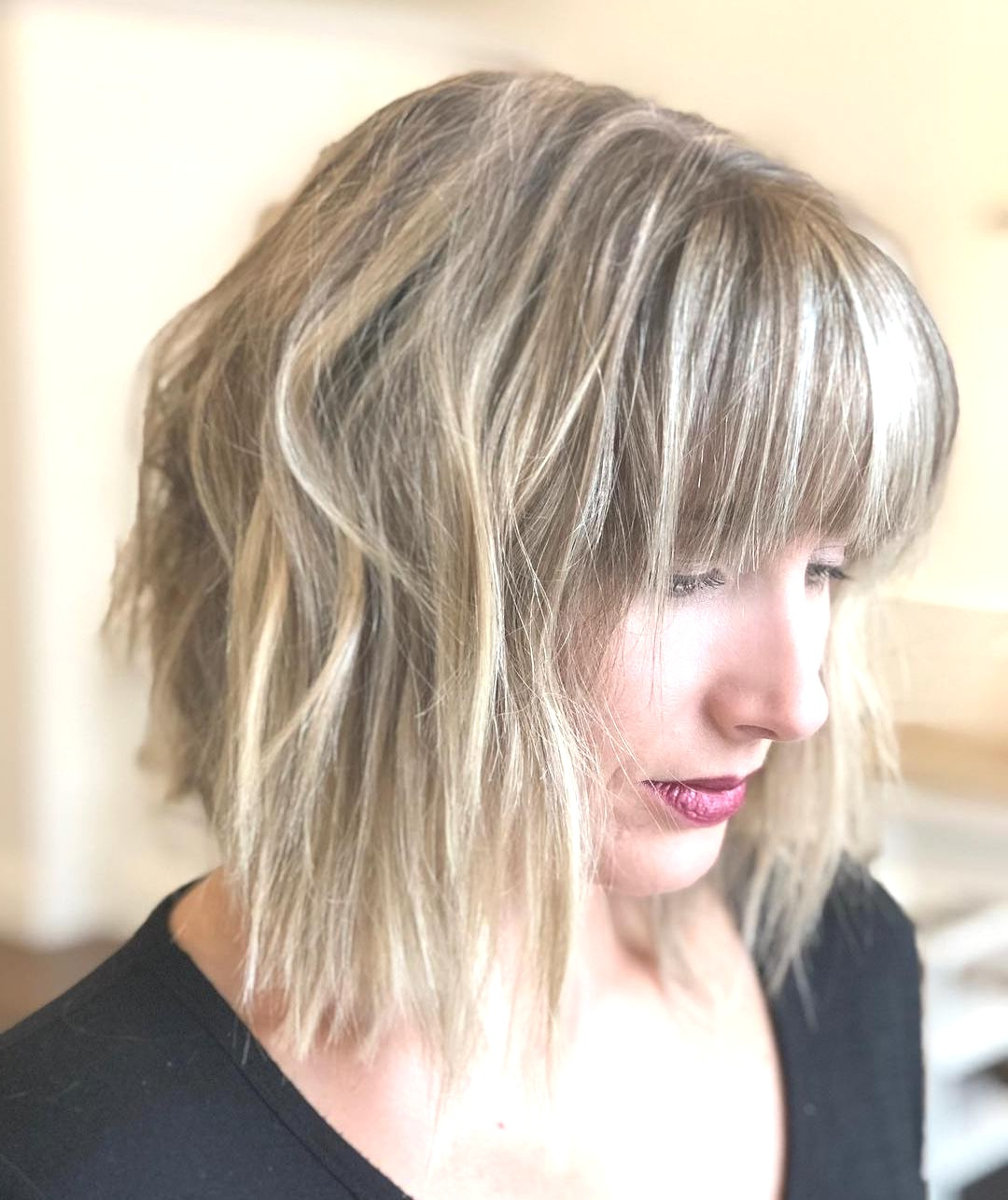 Hairstyles : Chopped Bob With Swoopy Bangs Cute 70 Fabulous Choppy Regarding Popular Cute Chopped Bob Hairstyles With Swoopy Bangs (View 5 of 20)