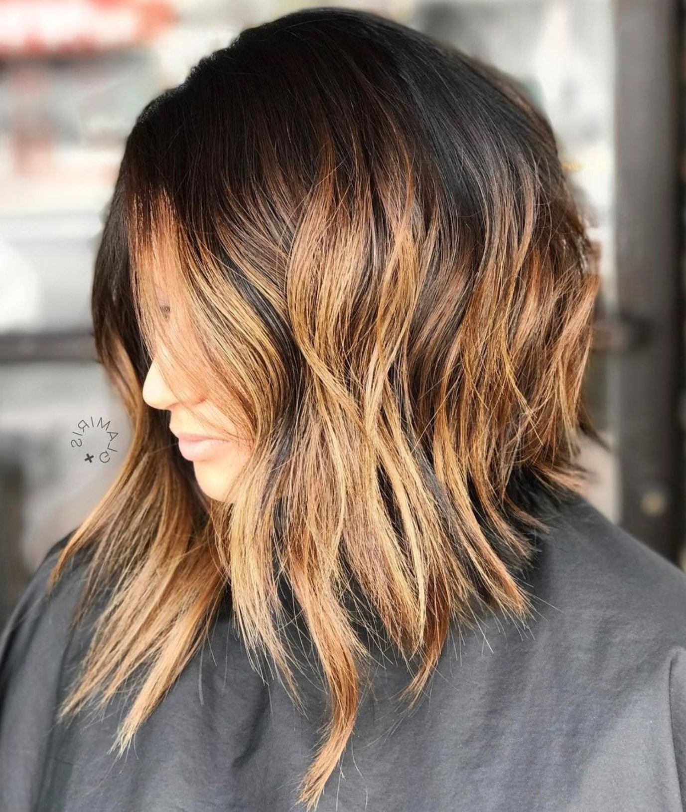 Hairstyles : Choppy Long Bob Delectable 50 Gorgeous Wavy Bob Throughout Most Current Long Wavy Chopped Hairstyles (Gallery 9 of 20)