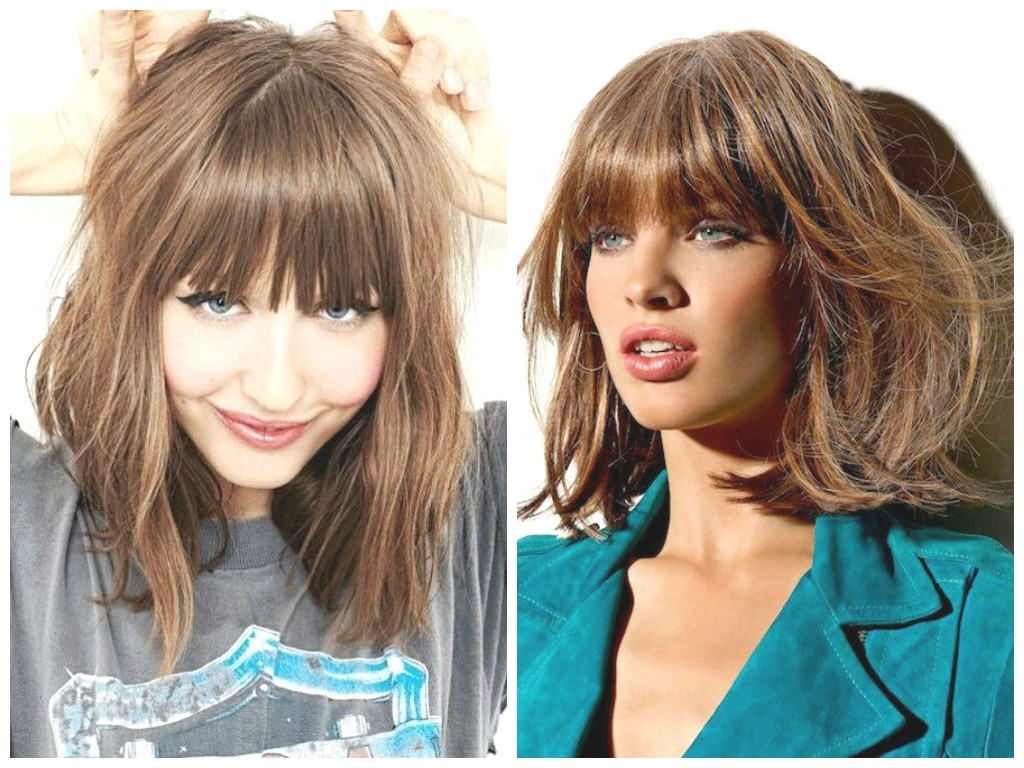 Hairstyles : Long Bob With Bangs Amusing The Best Lob Haircut Ideas Intended For Trendy Lob Hairstyles With A Fringe (View 6 of 20)
