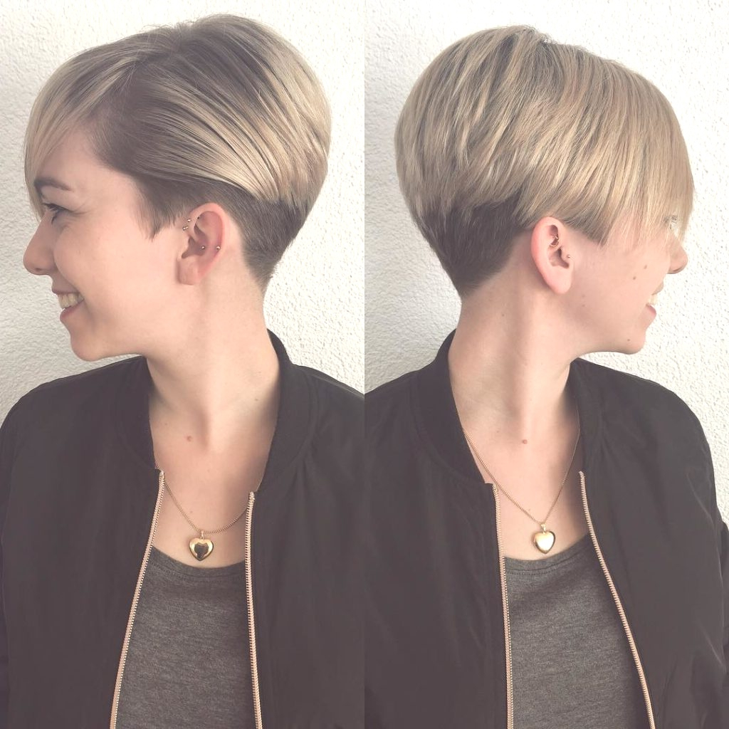 Hairstyles : Side Swept Pixie Cut Adorable Women S Short Blonde Intended For Well Known Short Blonde Side Bangs Hairstyles (Gallery 19 of 20)