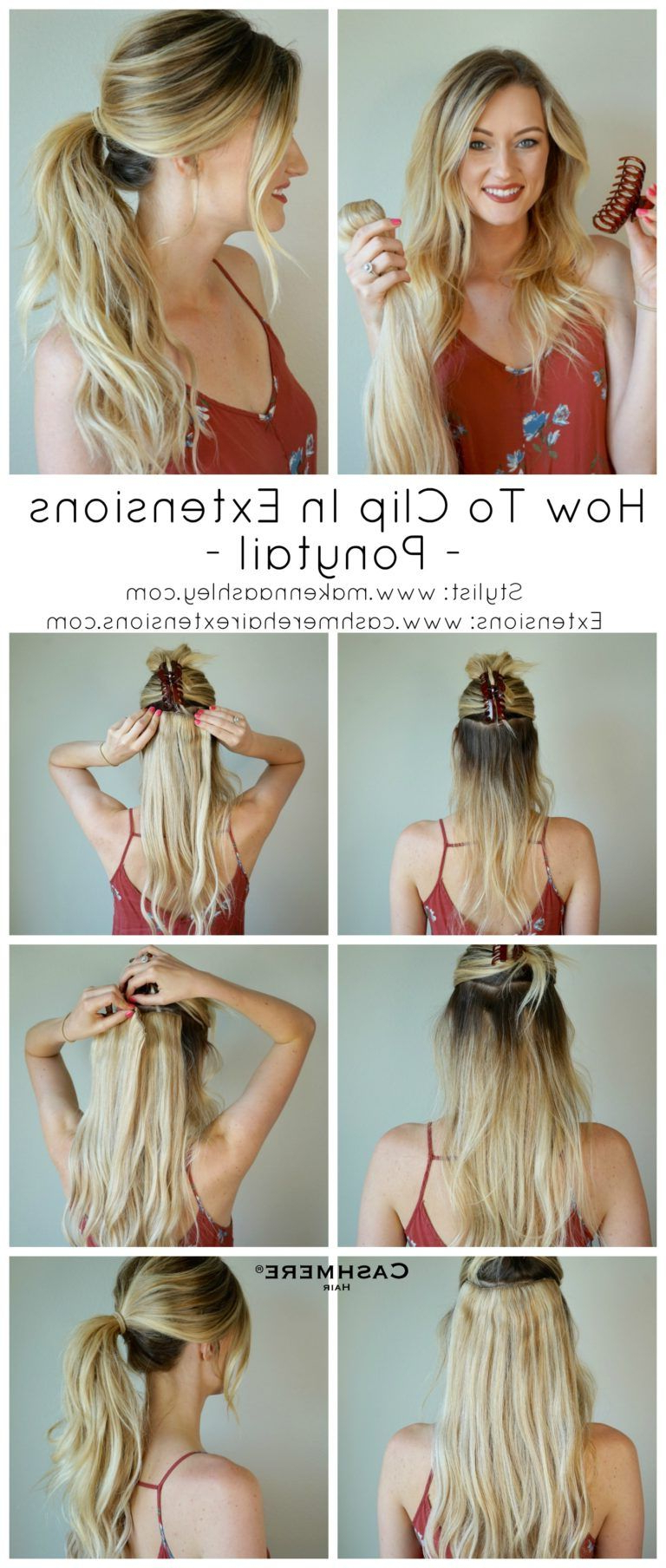 How To Clip In Extensions For A Ponytail (View 6 of 20)