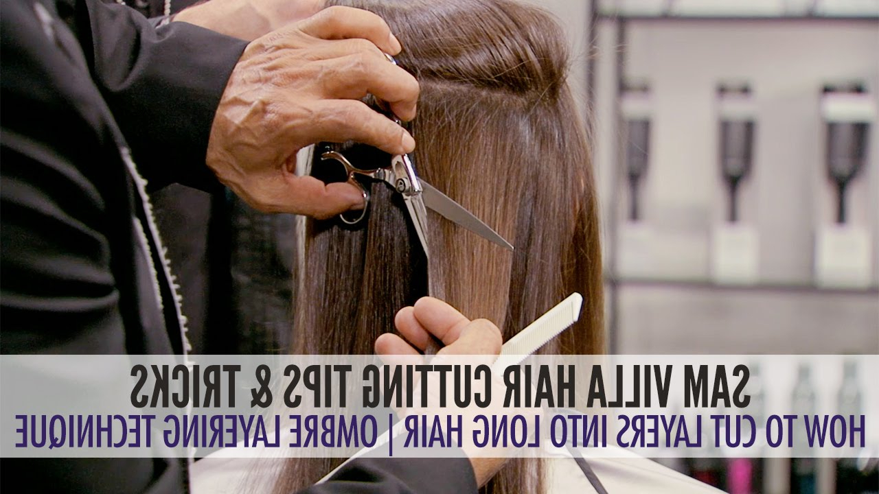 How To Cut Layers In Long Hair – The Ombre Layering Technique With Regard To Newest Very Long Layers Hairstyles (View 13 of 20)