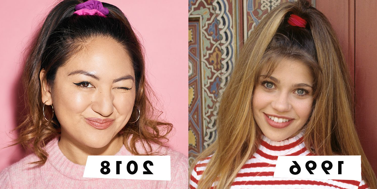 I Wore '90S Hair Accessories For A Week In Most Popular Graded Ponytail Hairstyles With A Butterfly Clasp (View 8 of 20)
