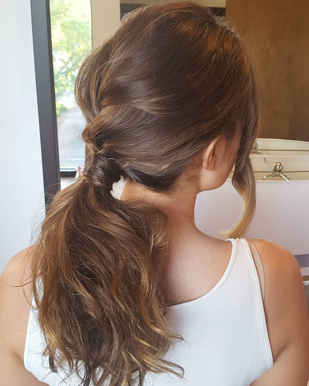Latest Four Pearls Ponytail Hairstyles In Soft Bridal Ponytail. #hair #bridalponytail #softponytail (Gallery 8 of 20)