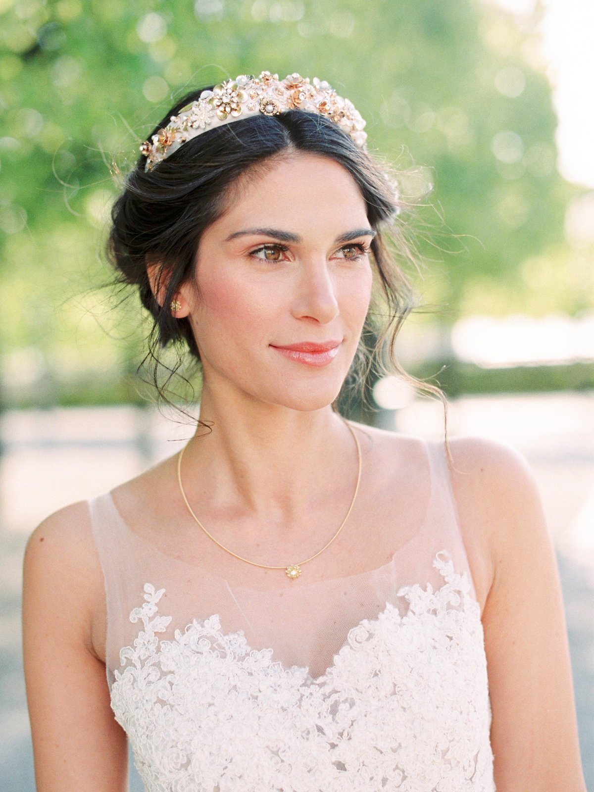 Latest Pearl Crown Ponytail Hairstyles With The Best Hairstyles For Brides Who Love A Middle Part (View 14 of 20)