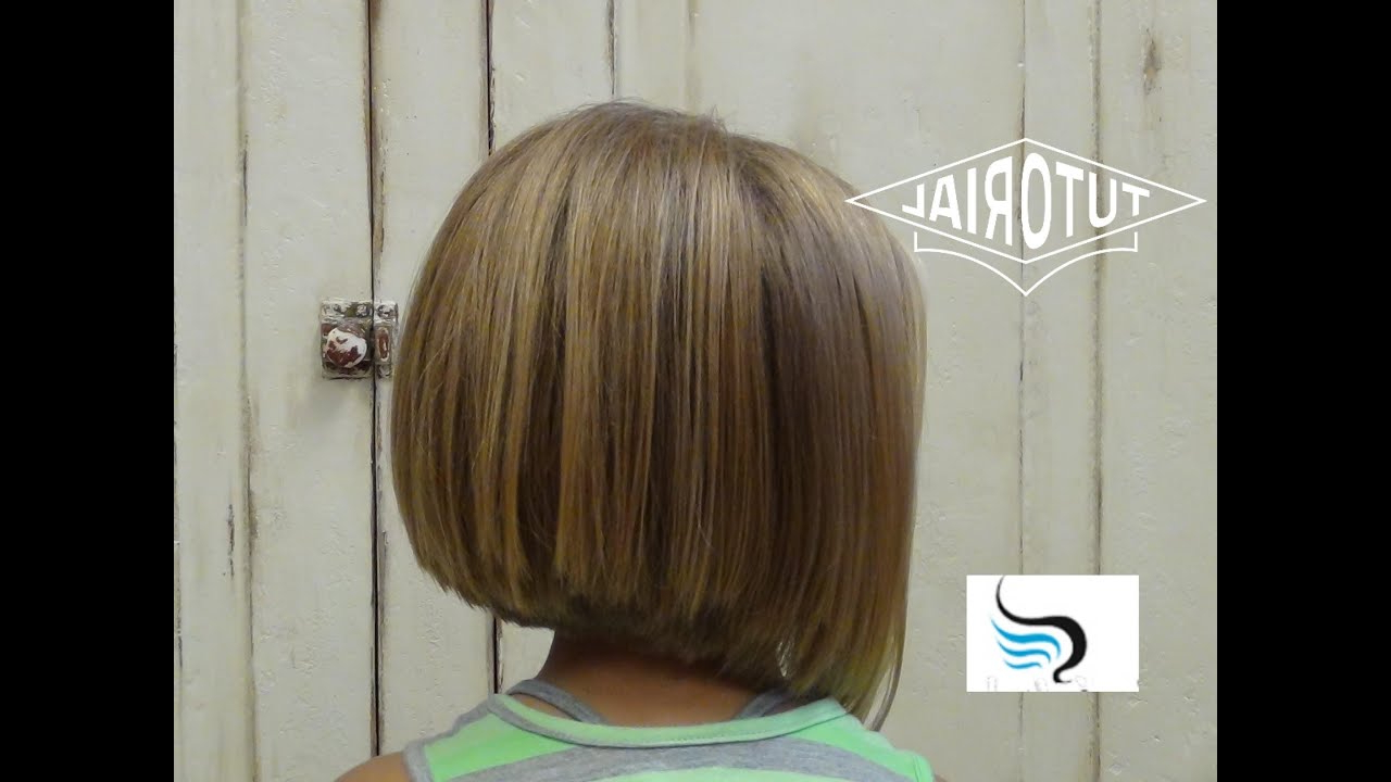 (Little Girl Bob Haircut) Adorable A Line Hairstyles Within Most Recent Casual A Line Bob Hairstyles (View 1 of 20)