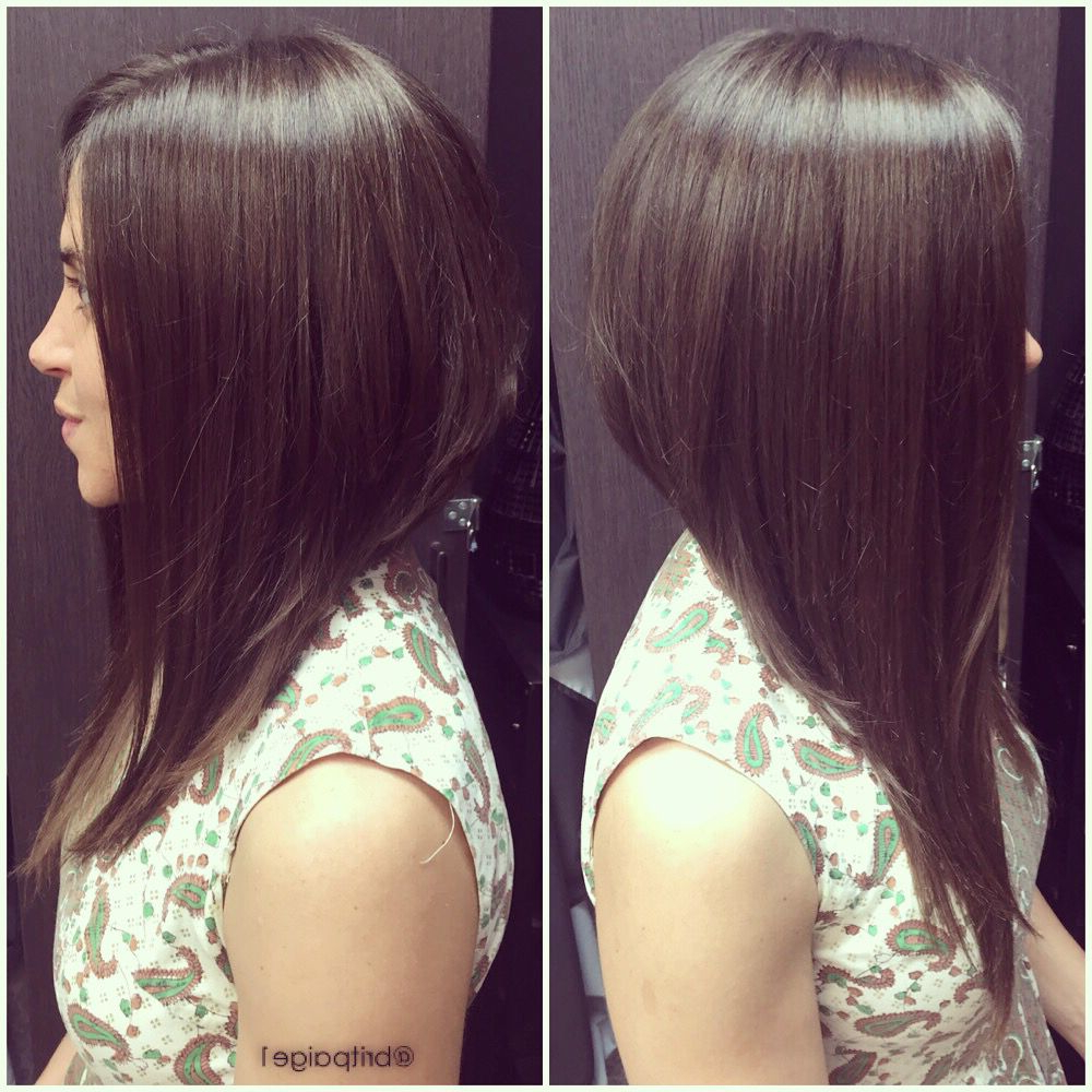 Long A Line Bob. Dramatic Asymmetrical Cut. #britpaige (Gallery 16 of 20)