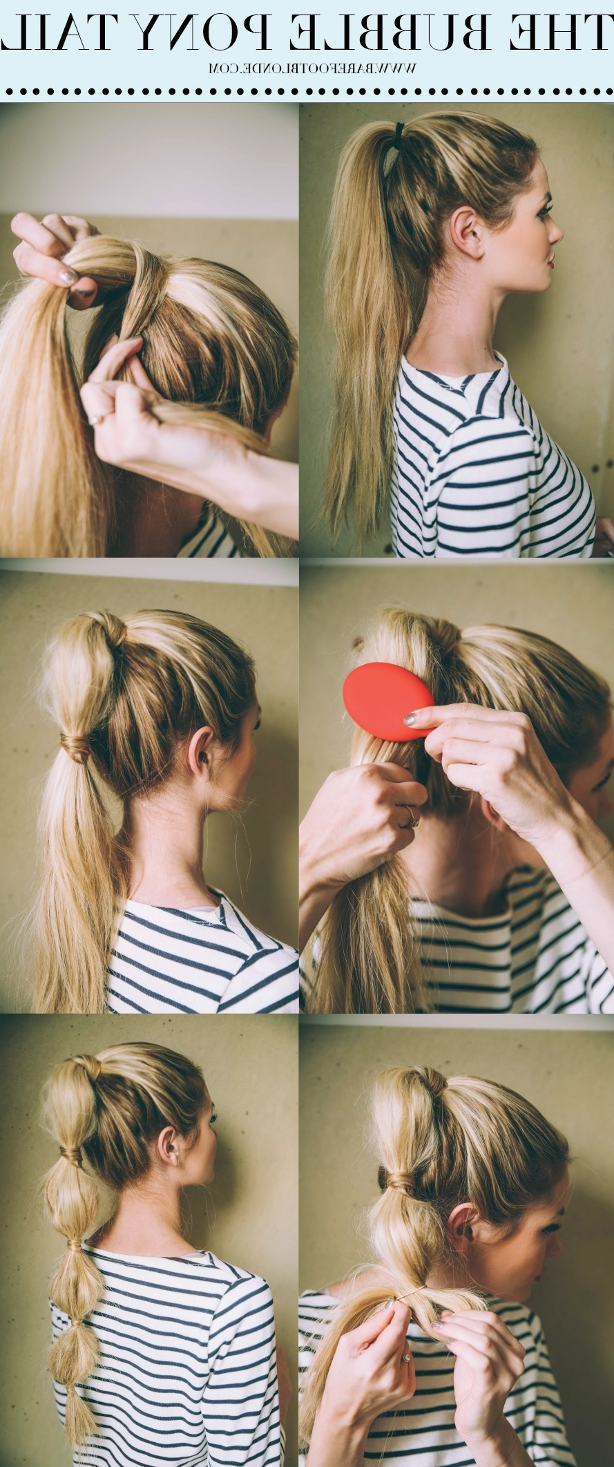Most Current Braided Bubble Ponytail Hairstyles Within Bubble Pony – Barefoot Blondeamber Fillerup Clark (View 13 of 20)