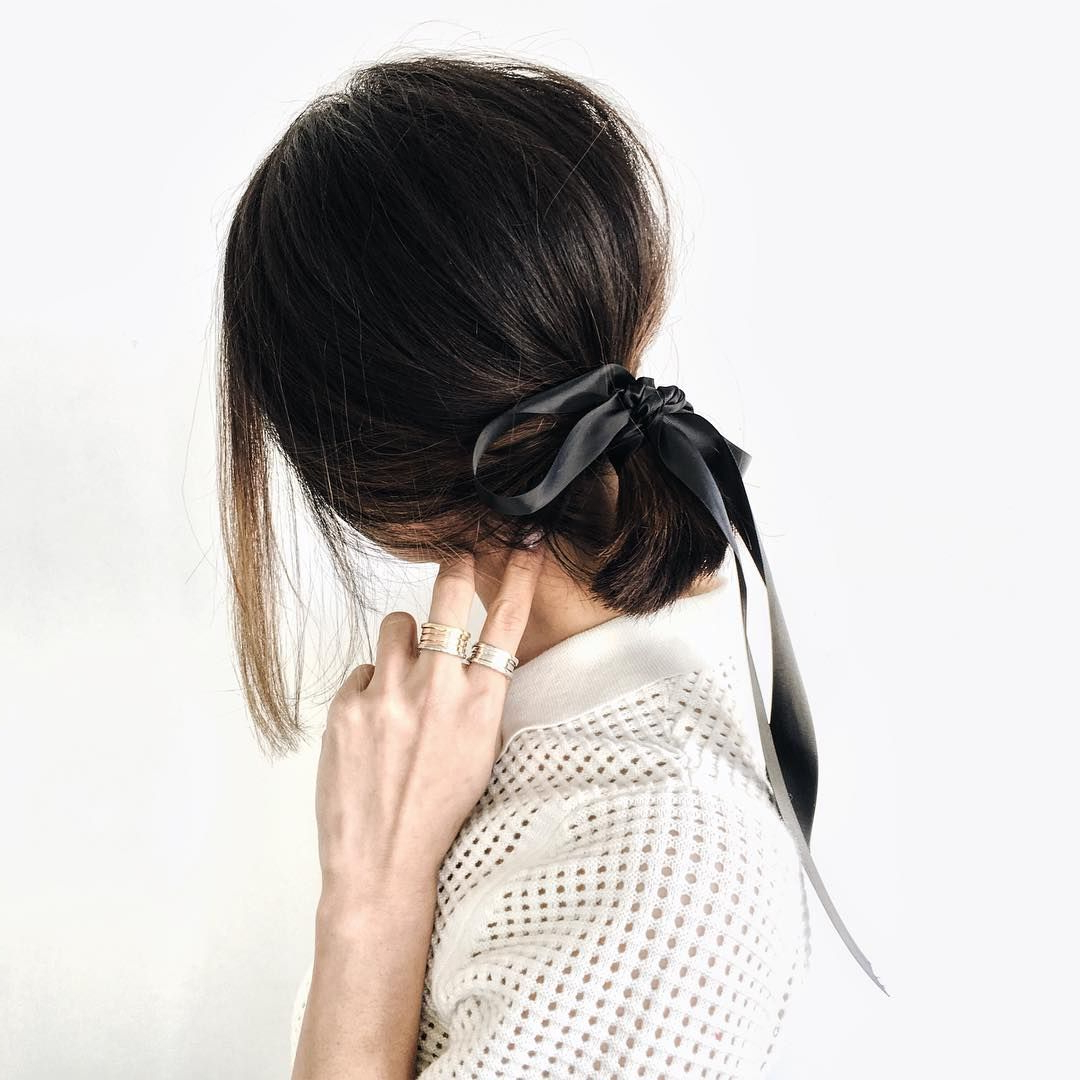 Most Popular Black Bow Ponytail Hairstyles With Chrisellelim : Thechrisellefactor : Youtube/chrisellelim (View 13 of 20)