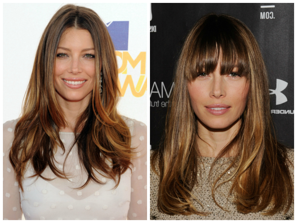 Most Popular Long Wavy Hairstyles With Horizontal Bangs For The Pro's And Con's Of Layered Hairstyles – Women Hairstyles (View 14 of 20)