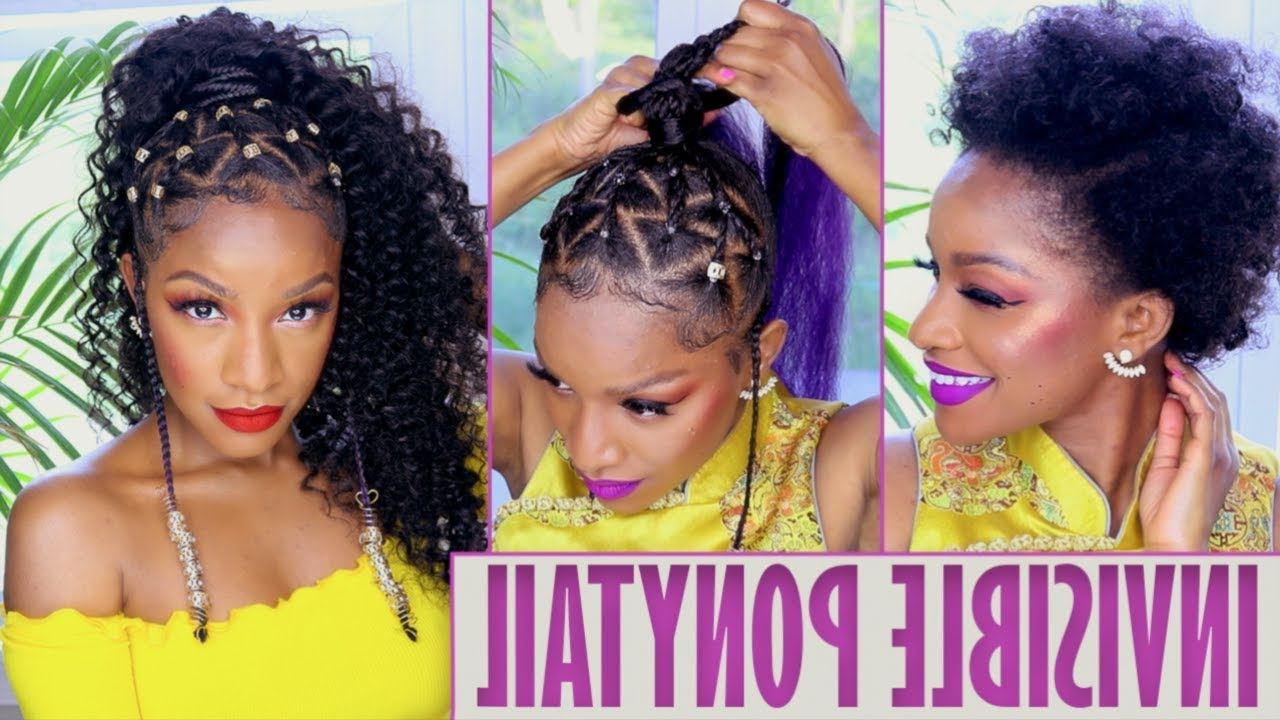 [%most Popular Threaded Ponytail Hairstyles Throughout Island Vibes Ponytail With Braids & Beads [video] – Black Hair|island Vibes Ponytail With Braids & Beads [video] – Black Hair Within Most Recently Released Threaded Ponytail Hairstyles%] (View 7 of 20)