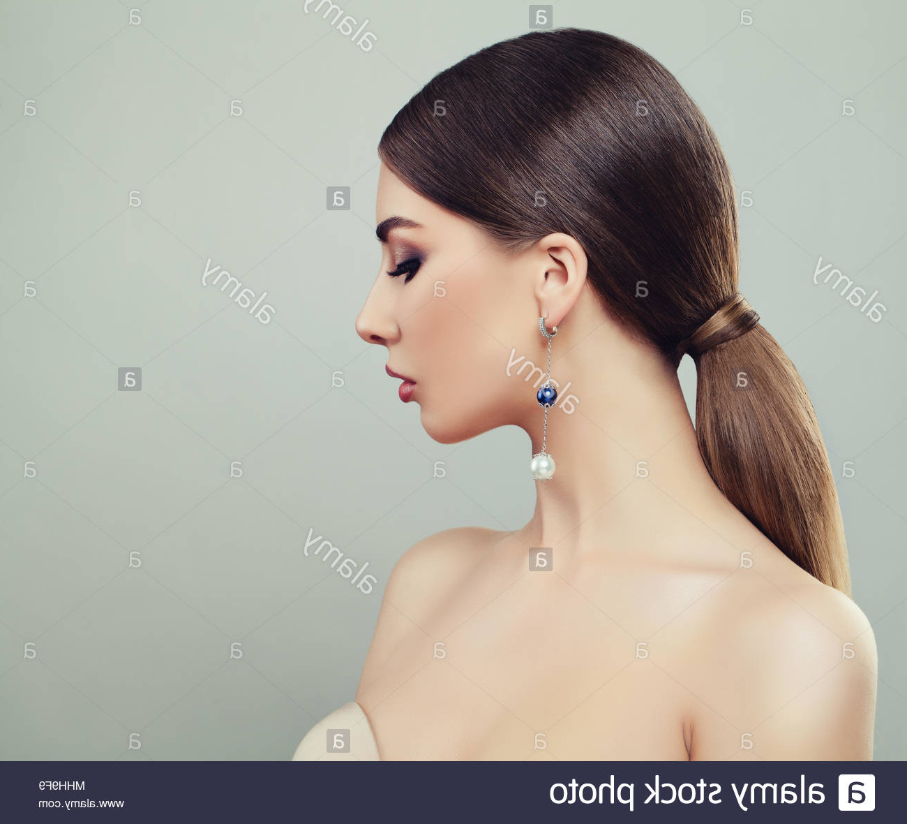 Most Recent Four Pearls Ponytail Hairstyles With Ponytail Hairstyle Fashion Stock Photos & Ponytail Hairstyle Fashion (View 18 of 20)