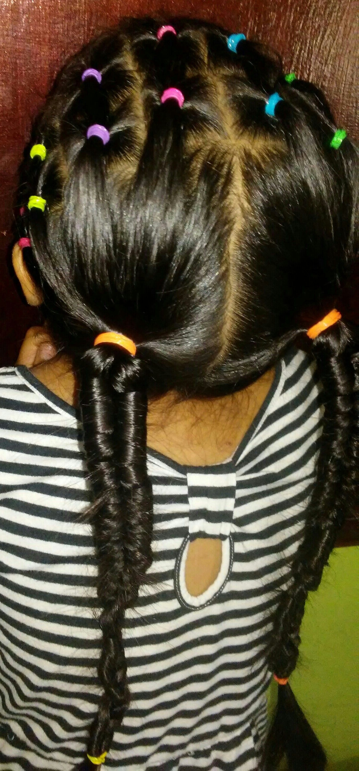 Most Recent Infinity Braid Ponytail Hairstyles With Regard To 2 Infinity Braid Ponytails Hairstyle Added With Some Colorful (View 15 of 20)