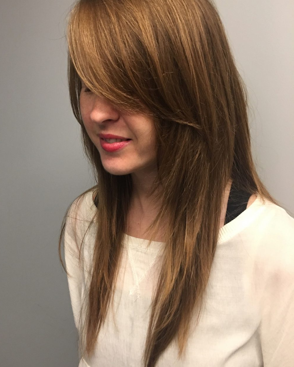 Most Recent Medium Shag Hairstyles With Long Side Bangs Pertaining To Long Shag Haircuts: 36 Examples For (View 8 of 20)
