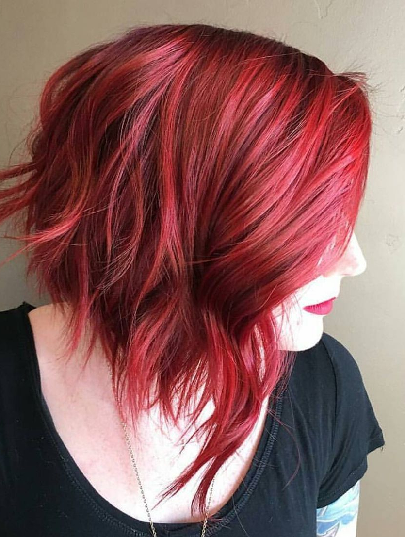 Most Recent Radiant Red Bob Haircuts Throughout 15 Ways To Add Bright Color To Your A Line Bob Haircut (View 13 of 20)