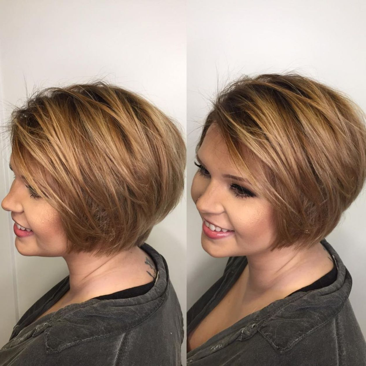 Most Recent Textured Bob With Side Part Hairstyles Within Top 60 Flattering Hairstyles For Round Faces In  (View 12 of 20)