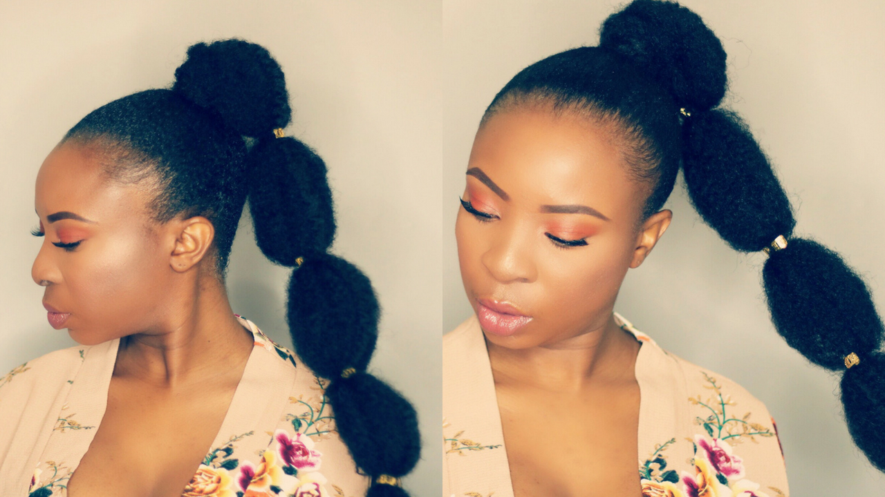 Most Recently Released Braided Bubble Ponytail Hairstyles Throughout How To – Bubble Ponytail On Short Natural Hair – Black Hair Information (View 14 of 20)