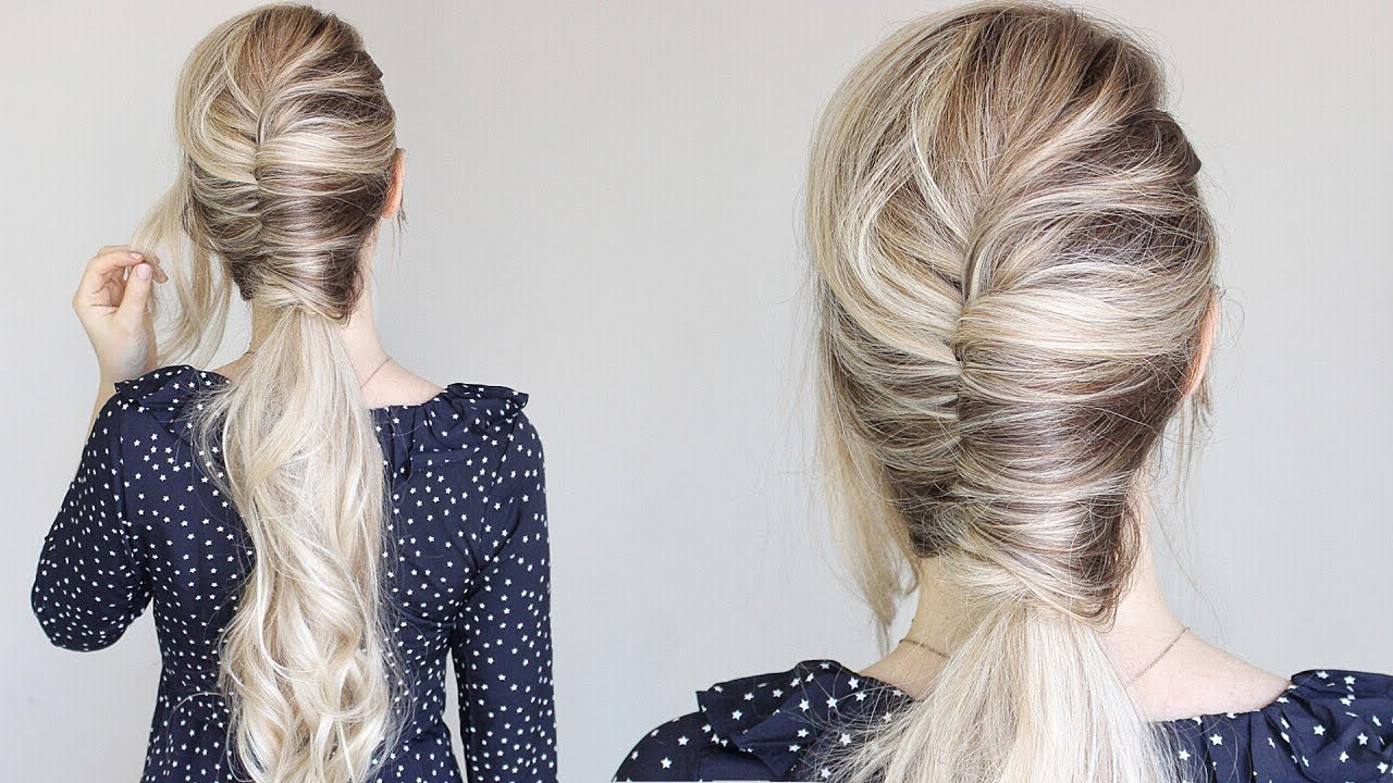 Most Recently Released Twist Into Ponytail Hairstyles Throughout How To: Easy French Twist Ponytail (View 7 of 20)