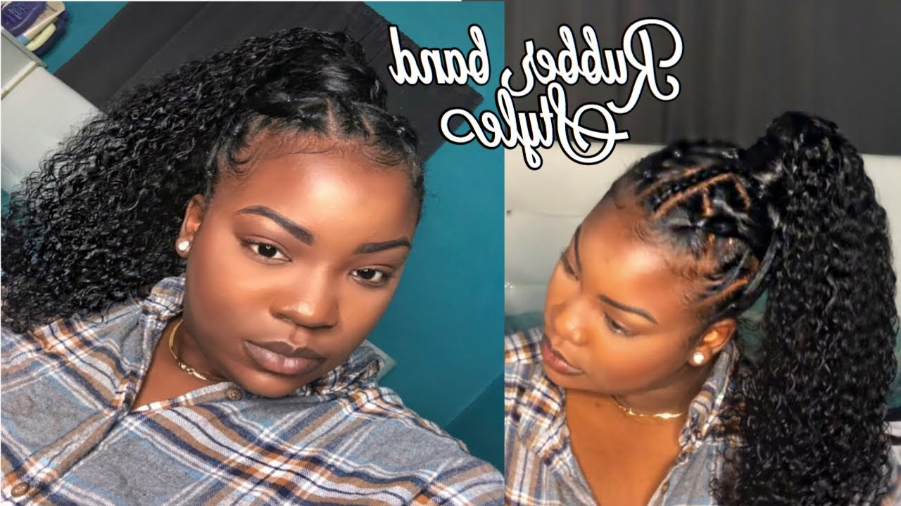 Most Up To Date Banded Ponytail Hairstyles Regarding Easy Rubber Band Method With Ponytail Tutorial (View 14 of 20)