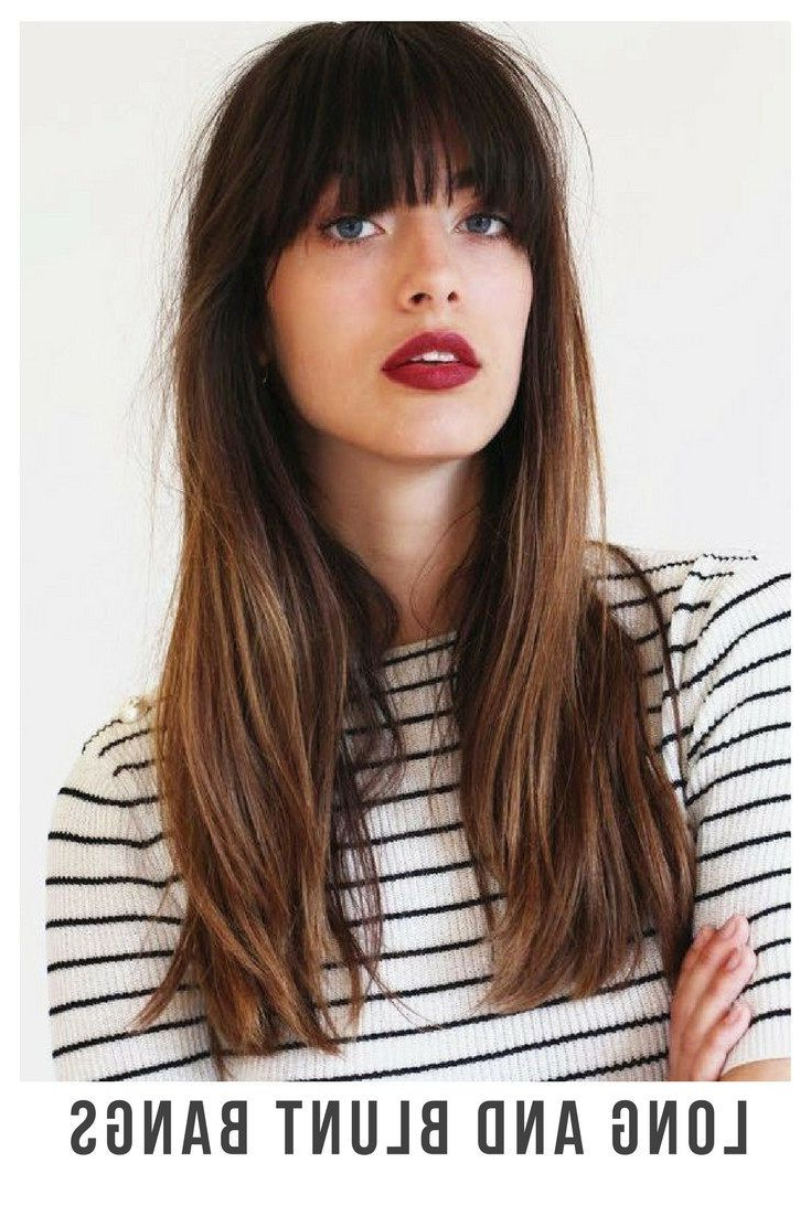 Most Up To Date Long Hair And Blunt Bangs Hairstyles Pertaining To 30+ Incredible Hairstyles For Thin Hair (View 13 of 20)