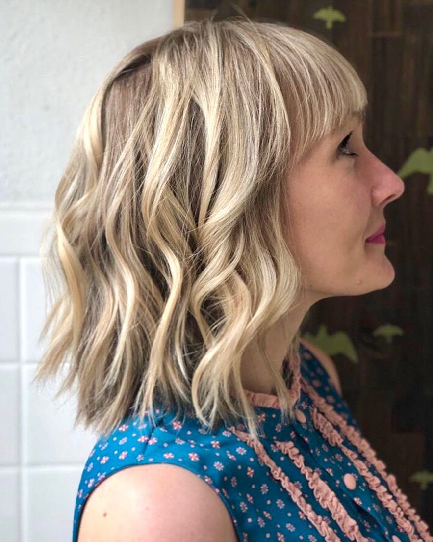 Most Up To Date Long Wavy Chopped Hairstyles Intended For 10 Trendy Choppy Lob Haircuts For Women, Best Medium Hair Styles (View 5 of 20)