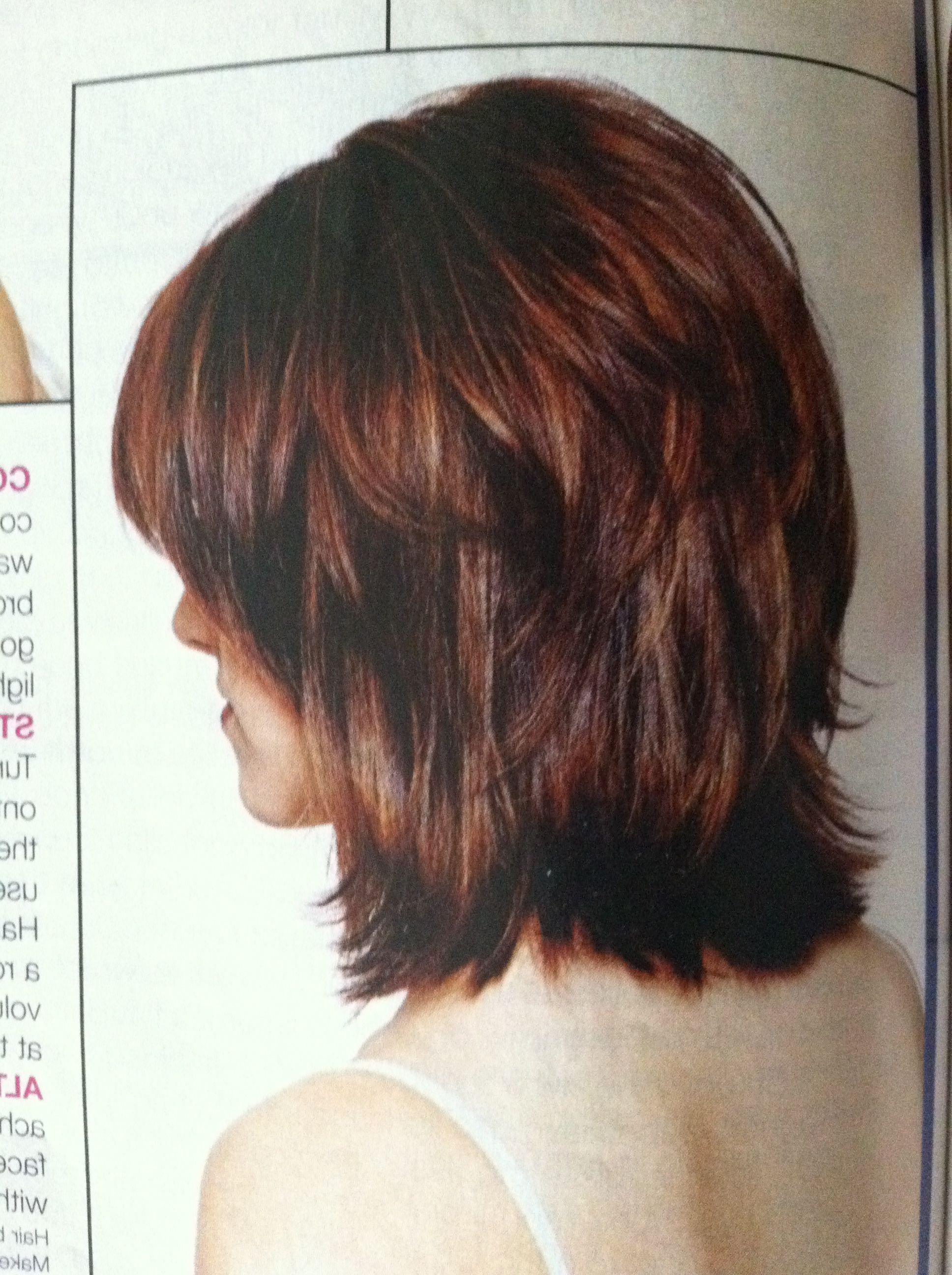 Most Up To Date Medium Hairstyles With Sliced Layers For I'm Growing My Hair Out Of A Graduated Bob And This Is The Length (View 10 of 20)