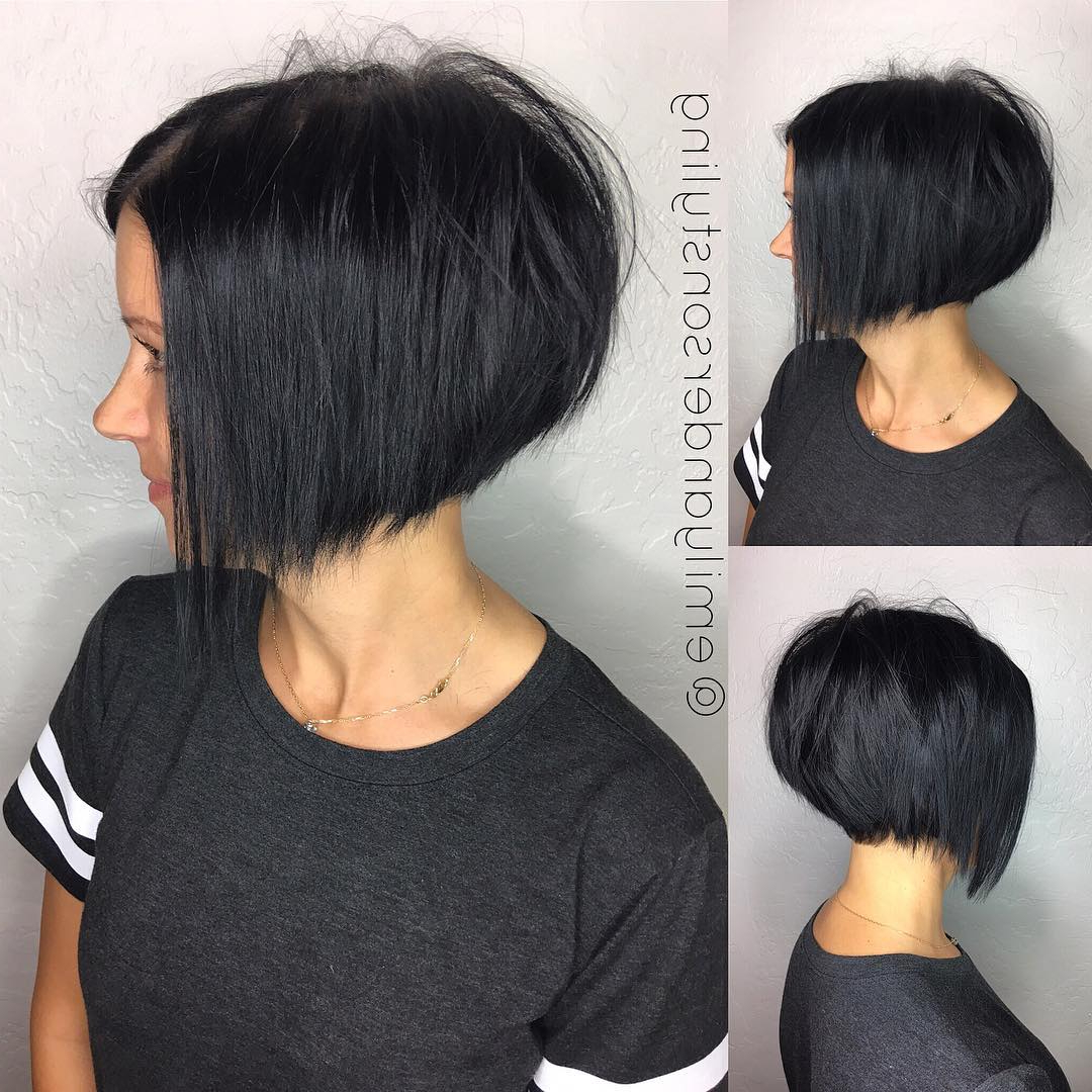 Most Up To Date Messy Disconnected Brunette Bob Hairstyles In 10 Latest Inverted Bob Haircuts  (View 17 of 20)
