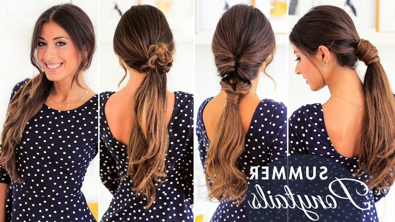 Most Up To Date Threaded Ponytail Hairstyles Pertaining To Different Ways To Wear A Ponytail – Luxy Hair (View 11 of 20)