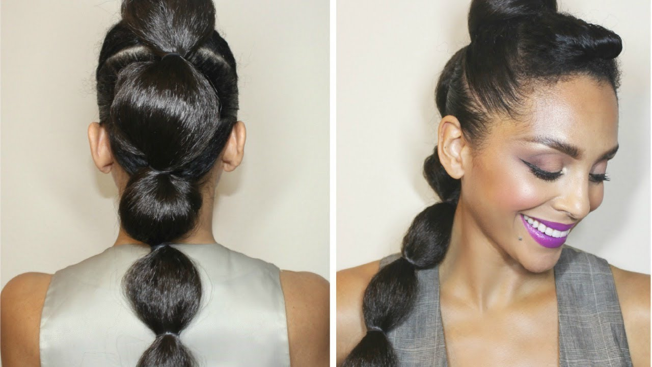Newest Braided Bubble Ponytail Hairstyles With Regard To How To: Bubble Ponytail Tutorial (View 16 of 20)