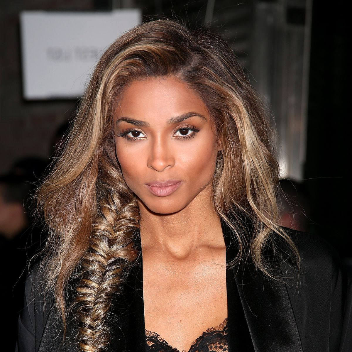 Paris Fashion Week: Ciara's Messy Fishtail Braid At Givenchy Pertaining To Most Up To Date Messy Fishtail Hairstyles For Oblong Faces (View 20 of 20)