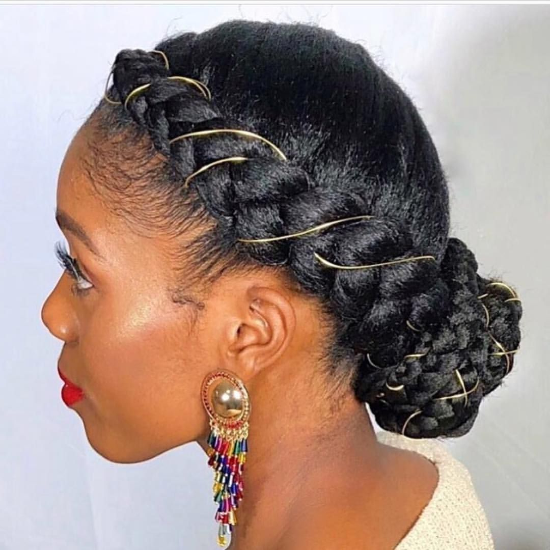 Pls Tag ✨ French Braids With Gold Thread. (Gallery 3 of 20)