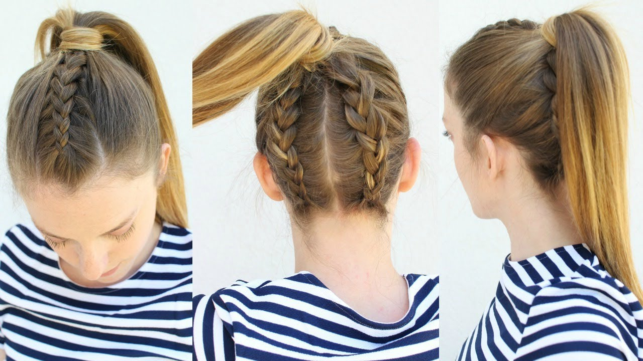 Ponytail Hairstyles Regarding Most Current Double Plaiting Ponytail Hairstyles (View 18 of 20)