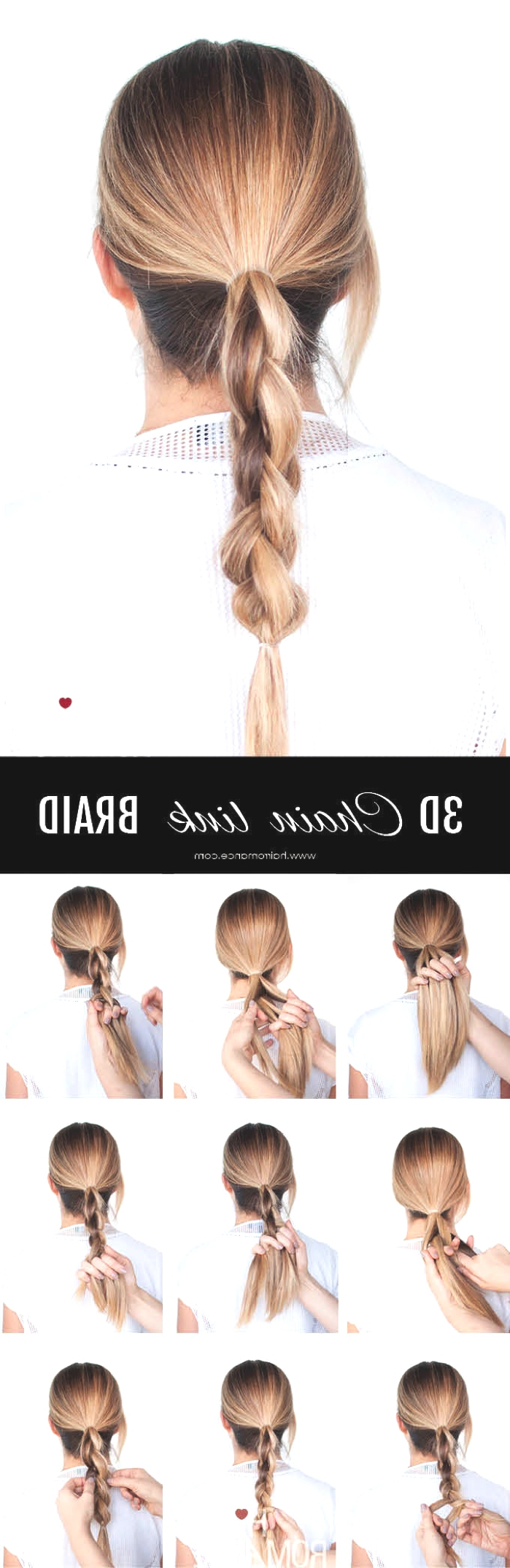 Popular Chain Ponytail Hairstyles Throughout Ponytail Hairstyle Ideas (View 17 of 20)
