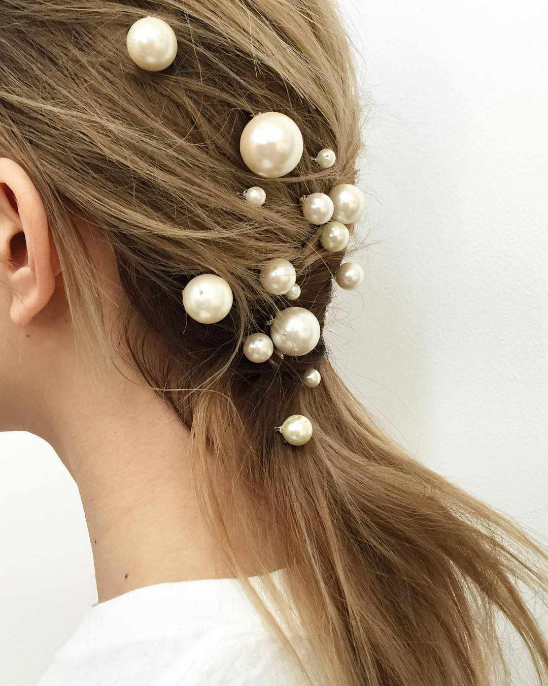 Popular Pearl Crown Ponytail Hairstyles In These Are Not Your Grandmother's Pearl Hair Accessories (Gallery 10 of 20)