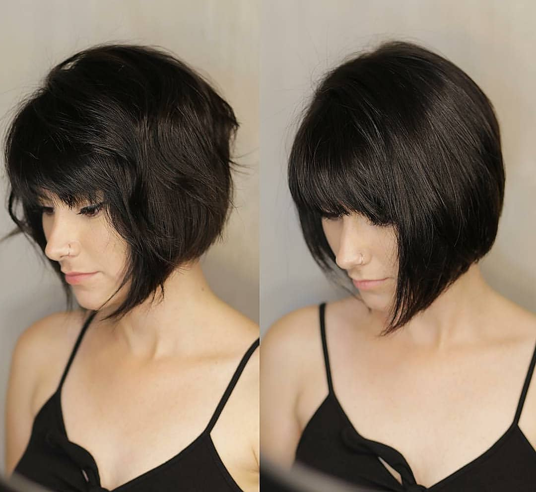 Popular Simple Bob Hairstyles With Shaped Bangs Pertaining To 10 Fab Short Hairstyles With Texture & Color (View 14 of 20)