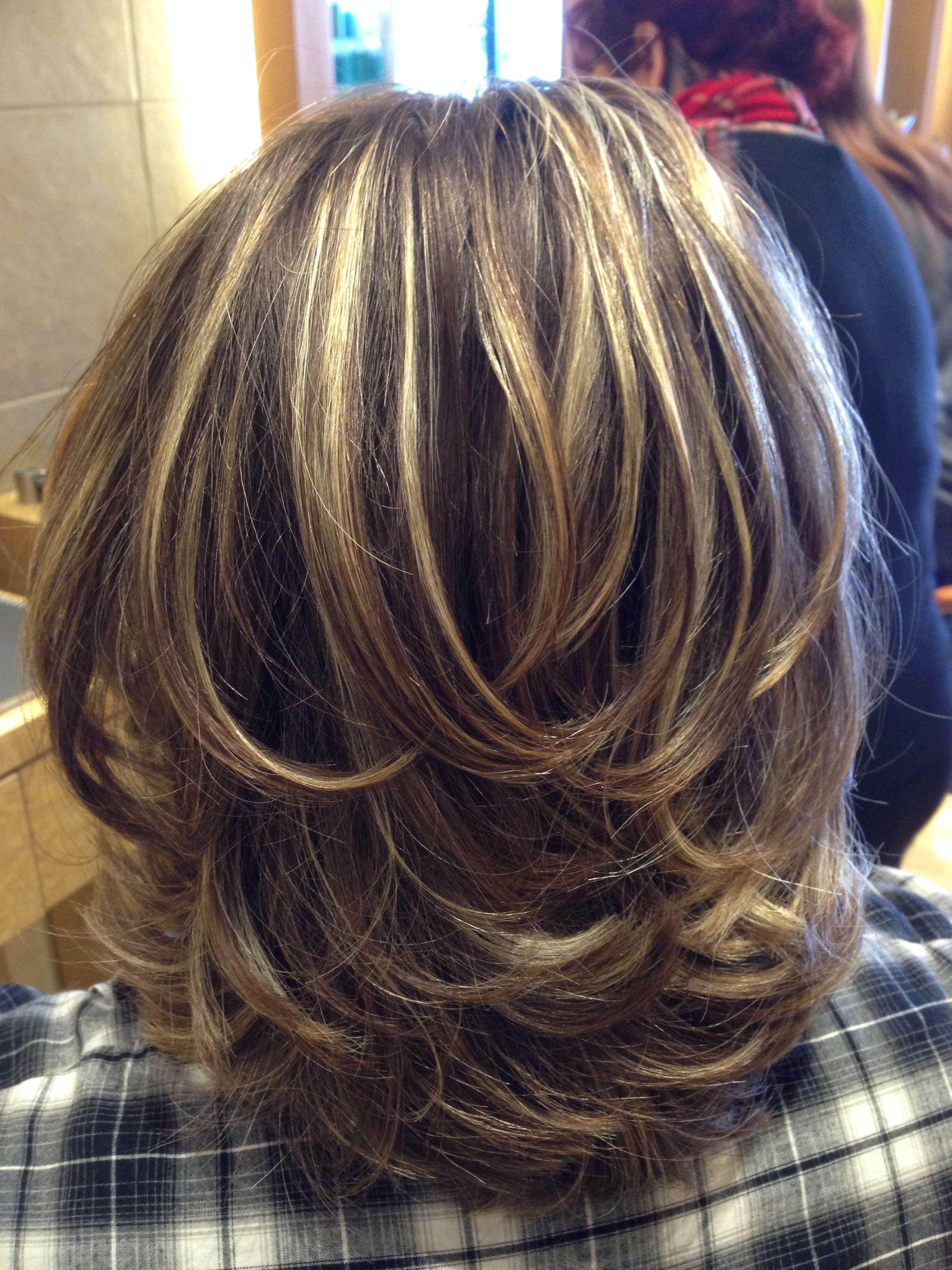 Preferred Medium Hairstyles With Sliced Layers With Layered Hair Cut (View 3 of 20)