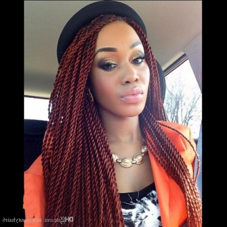 Preferred Twisted Lace Braid Hairstyles Intended For High Quality Twist Braided Wig Burgundy Wine Red Color Color Senegalese Twist Full Lace Front Wigsr Long Braid Wigs With Baby Hair Wig Lace Lace Wigs (View 20 of 20)
