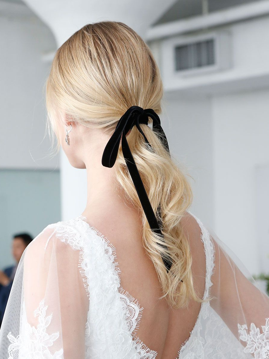 Recent Black Bow Ponytail Hairstyles Regarding The Prettiest Hair Inspo From The Runway (Gallery 5 of 20)