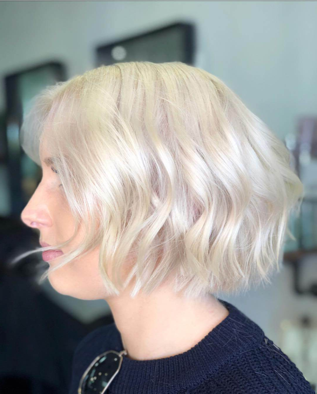 Recent Chin Length Wavy Bob Hairstyles In 30 Choppy Bob Hairstyles – Try Something New & Trendy! (View 17 of 20)