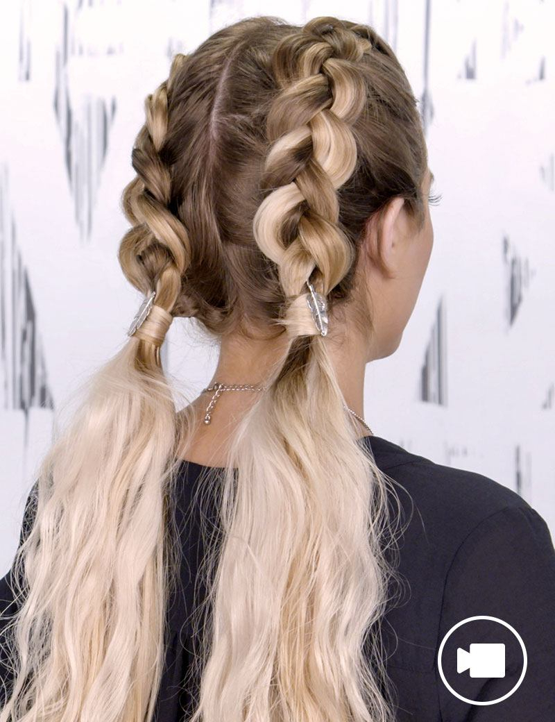Recent Double Plaiting Ponytail Hairstyles With Braided Hair Style Trends & Braid Inspiration (Gallery 11 of 20)