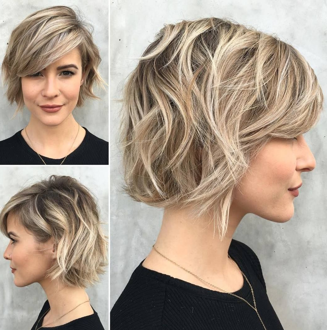 Featured Photo of Cute Chopped Bob Hairstyles With Swoopy Bangs