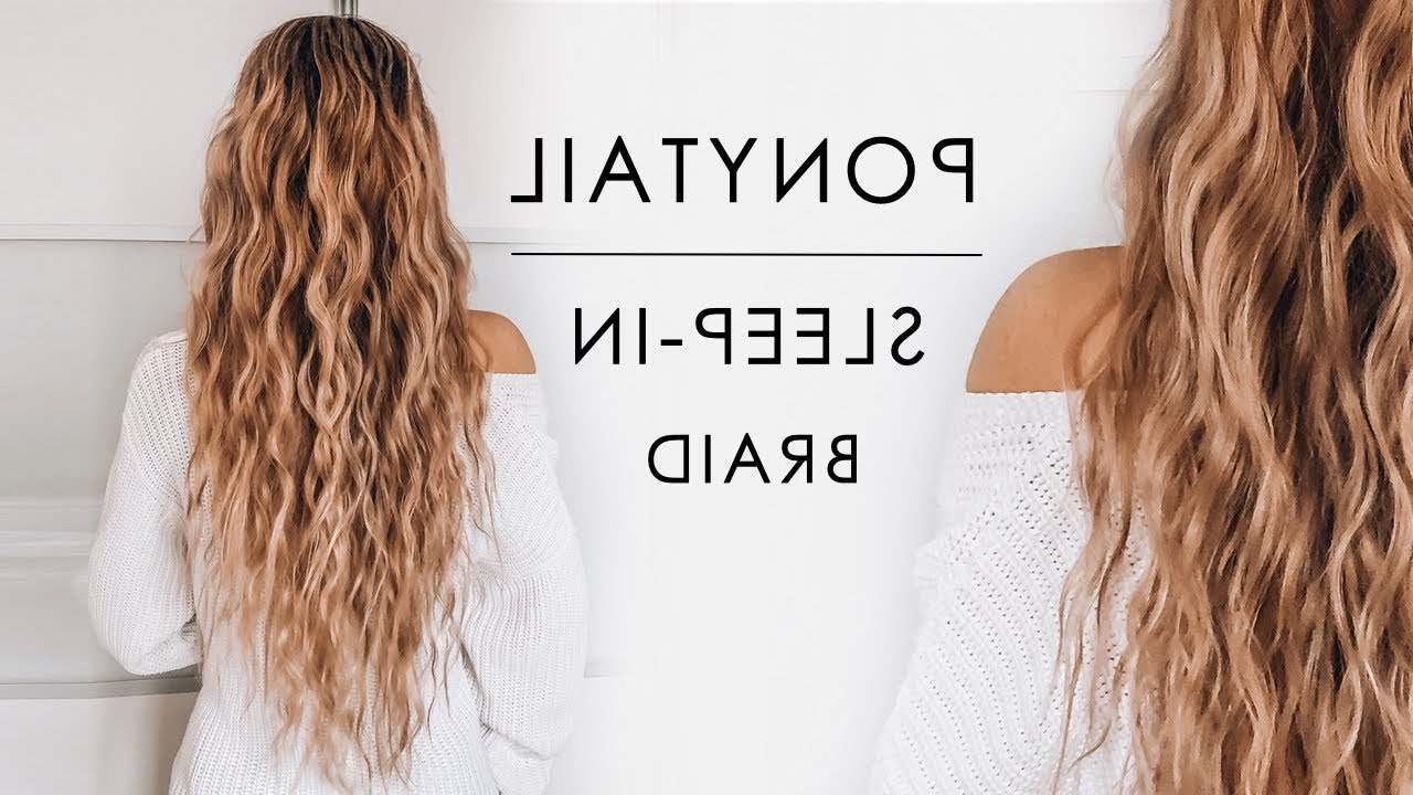 Sleep In Ponytail Beachy Waves Hair Tutorial (Gallery 10 of 20)