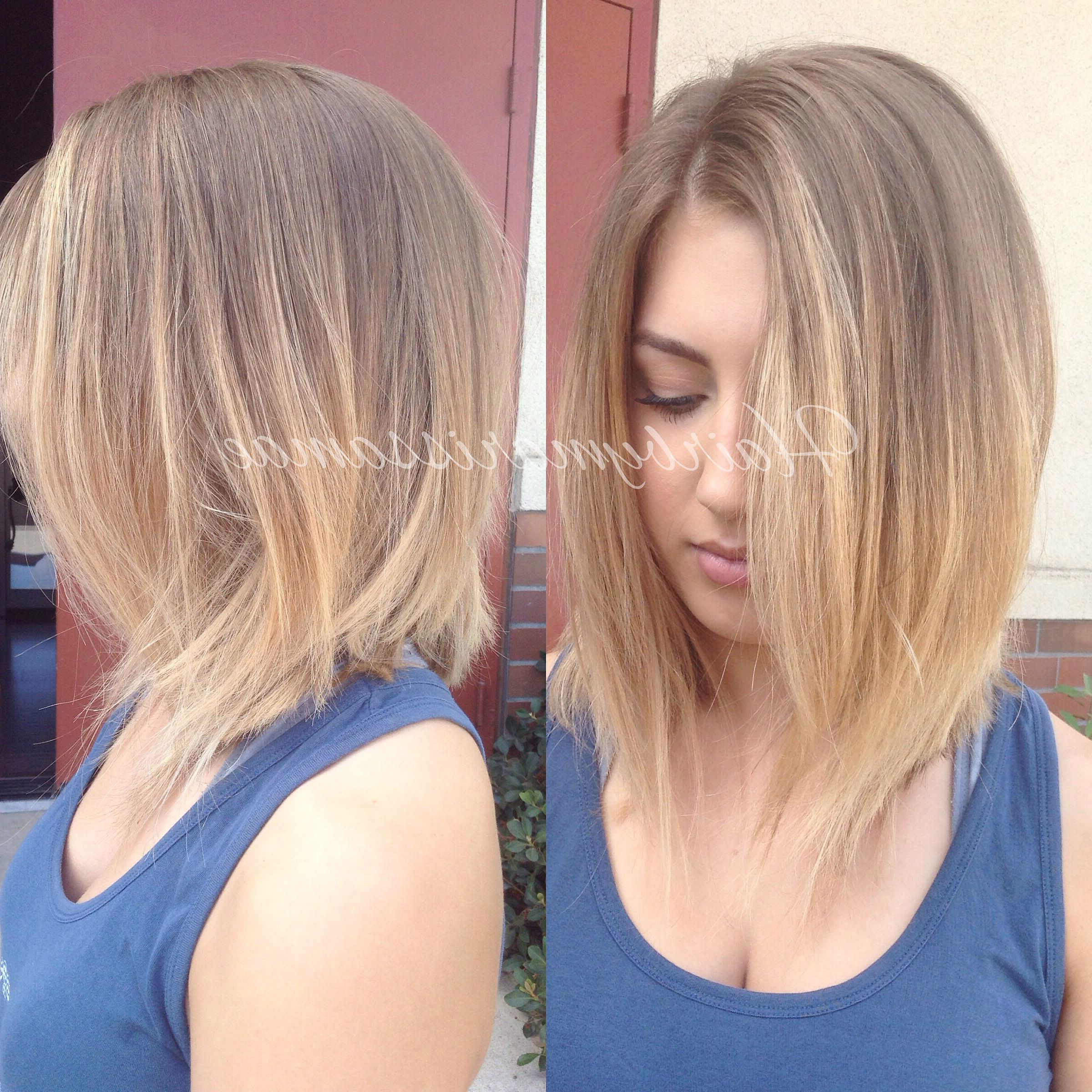 Soft Ombre And A Textured Long A Line Bob (Gallery 1 of 20)