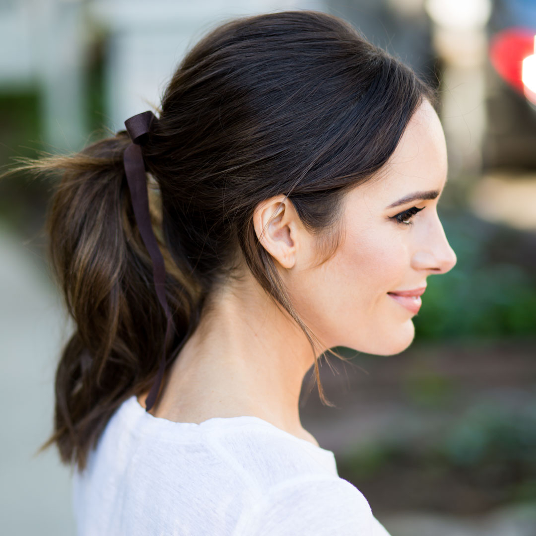 The Chic Ribbon Ponytail Trend (Gallery 11 of 20)