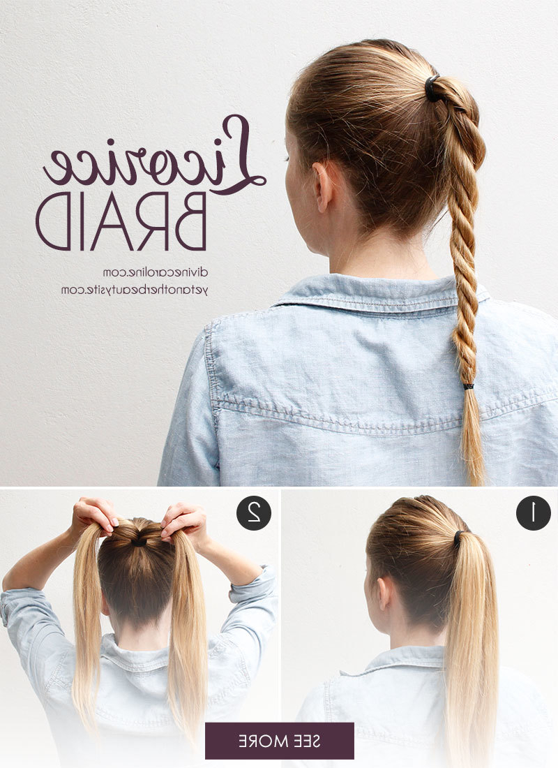 The Licorice Braid: The Perfect Twist On The Ponytail (Gallery 15 of 20)