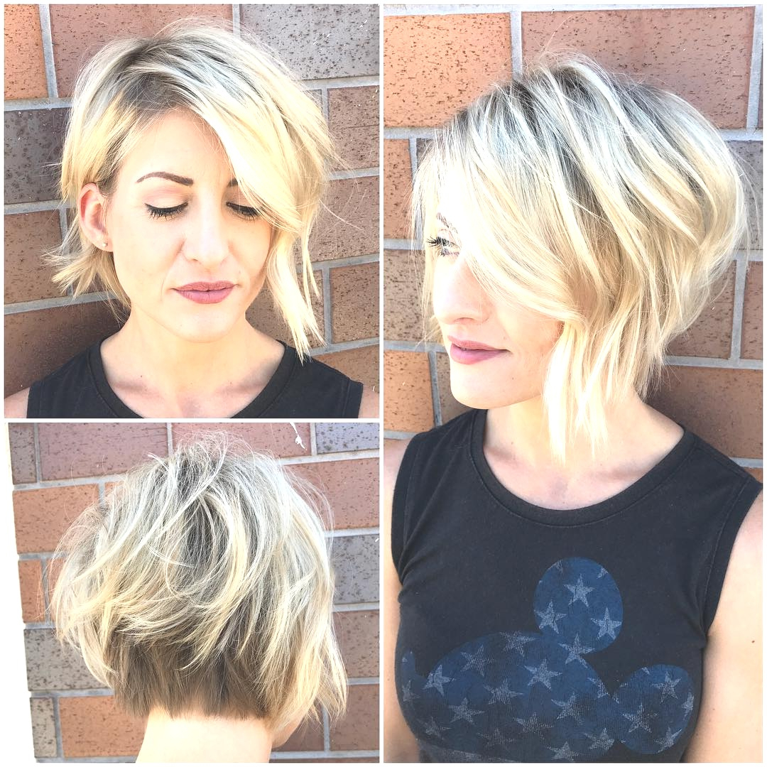 Trendy Asymmetrical Choppy Lob Hairstyles Intended For Hairstyles : Asymmetrical Choppy Bob Charming 50 Adorable Hairstyles (Gallery 4 of 20)